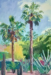 Garden Palms by Leila Barton -  sized 18x26 inches. Available from Whitewall Galleries